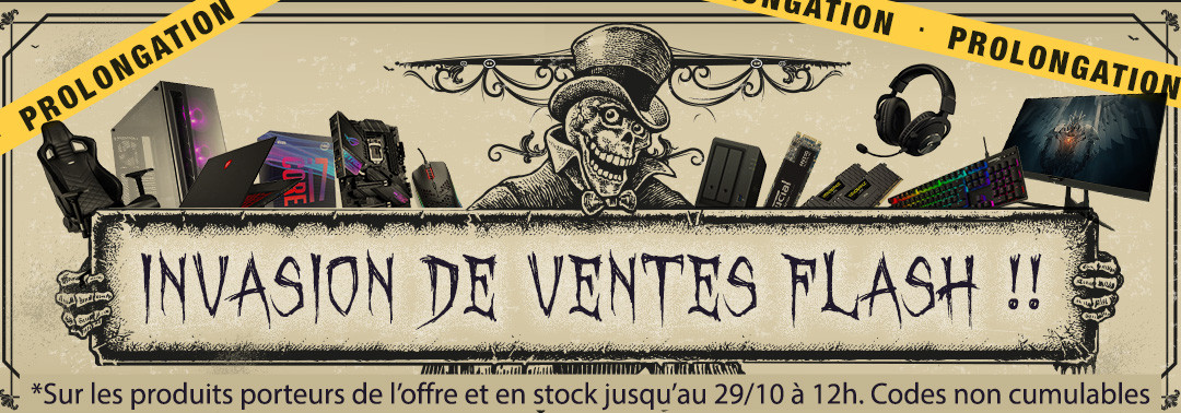 Invasion de ventes flash - prolongation
