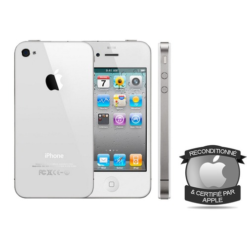 apple iphone 4 8 go blanc 3 5 reconditionne top achat. Black Bedroom Furniture Sets. Home Design Ideas