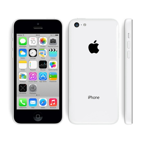 apple iphone 5c 8 go blanc 4g reconditionn grade a top achat. Black Bedroom Furniture Sets. Home Design Ideas