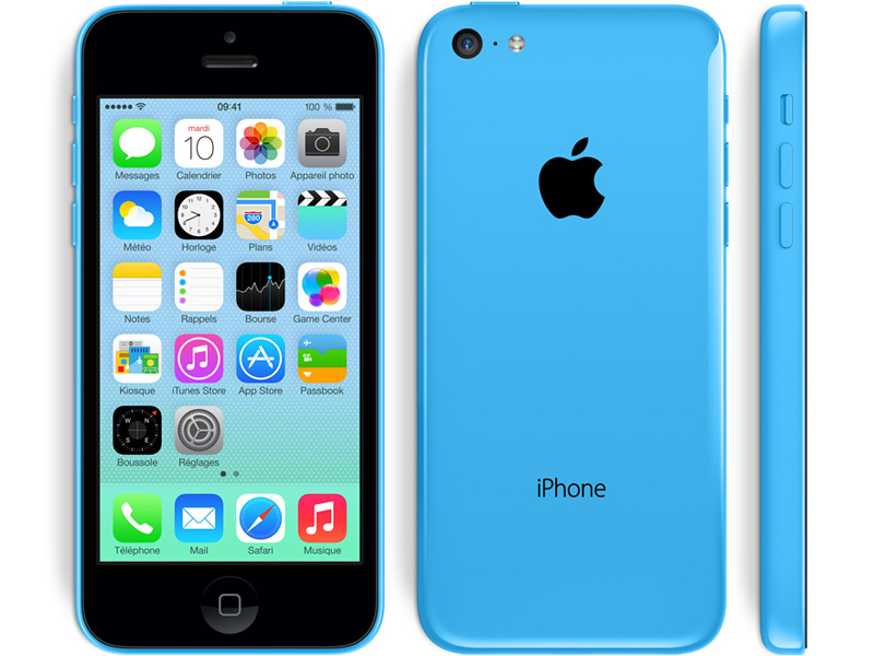 apple iphone 5c 32 go 4g bleu reconditionn tr s. Black Bedroom Furniture Sets. Home Design Ideas