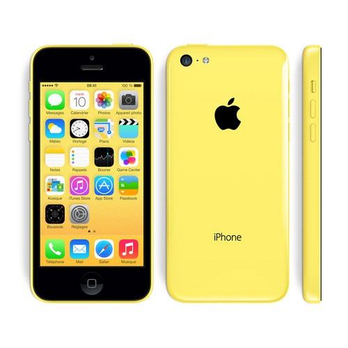 apple iphone 5c 16 go 4g jaune reconditionn tr s. Black Bedroom Furniture Sets. Home Design Ideas