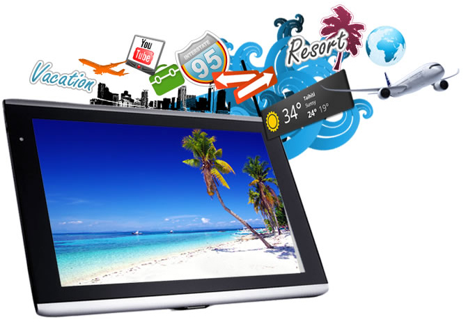 Tablette tactile  Iconia Tab A500 Ecran tactile 10.1' - Capacitif Multitouch - ARM 1 Ghz - 32 Go - Android 3 - Wifi