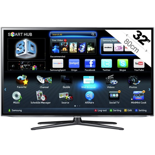 tv led 3d ready samsung ue32es6300 80 cm top achat. Black Bedroom Furniture Sets. Home Design Ideas