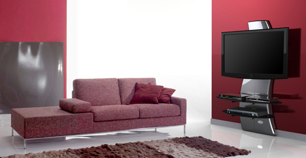 support meuble tv noir carbone kit d clairage led c ble hdmi top achat. Black Bedroom Furniture Sets. Home Design Ideas