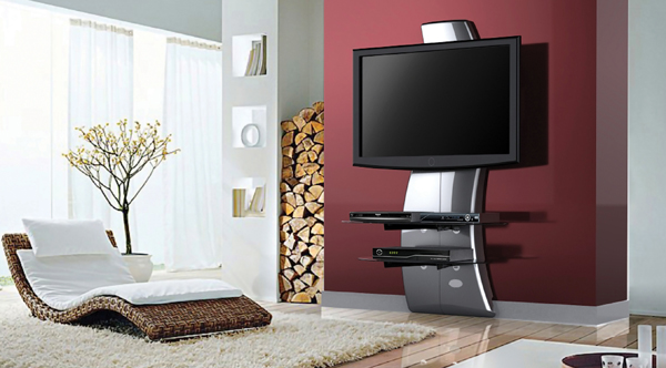 support meuble tv silver kit d clairage led c ble hdmi top achat. Black Bedroom Furniture Sets. Home Design Ideas