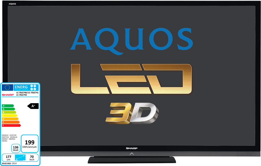 tv led 3d ready sharp aquos lc 70le740e 177 cm top achat