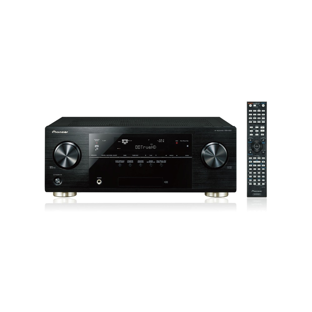 ampli audio video 7 2 pioneer vsx 922 noir top achat. Black Bedroom Furniture Sets. Home Design Ideas