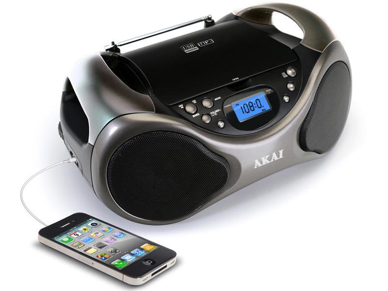 boombox akai ab 40k cd mp3 tuner fm usb 2x3 6w noir. Black Bedroom Furniture Sets. Home Design Ideas