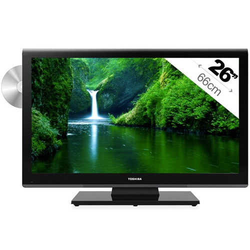 combi tv led lecteur dvd int gr toshiba 26dl933 66 cm top achat. Black Bedroom Furniture Sets. Home Design Ideas