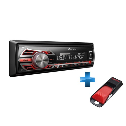 autoradio num rique pioneer mvh 150ui cl usb 2 0 sandisk cruzer edge 4 go top achat. Black Bedroom Furniture Sets. Home Design Ideas