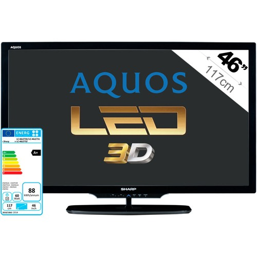 tv led 3d sharp aquos lc 46le730e 117 cm top achat. Black Bedroom Furniture Sets. Home Design Ideas