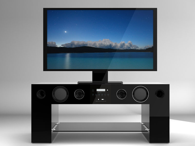 Meuble Tv Home Cinema Integre Watts Pas Cher  ArtzeinCom