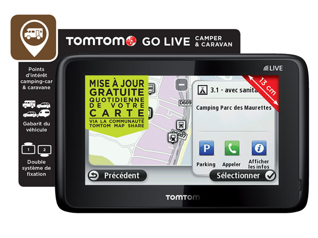 gps camping car tomtom go live camping car et caravane europe top achat. Black Bedroom Furniture Sets. Home Design Ideas