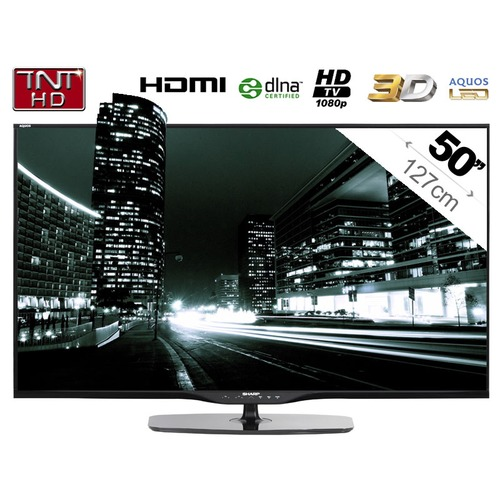 tv led 3d sharp lc 50le650e 127 cm top achat. Black Bedroom Furniture Sets. Home Design Ideas