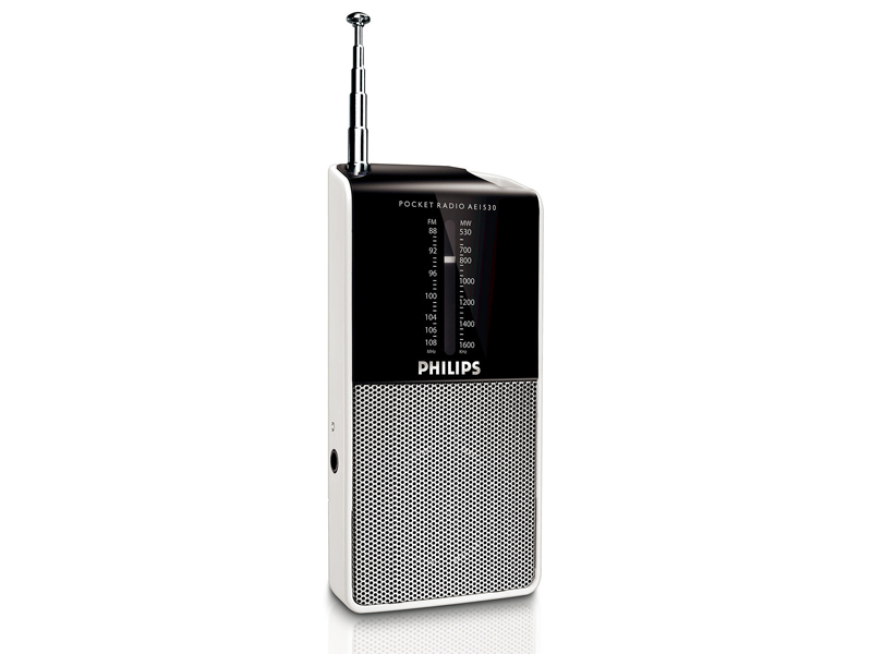 radio portable de poche philips ae1530 00 silver top achat. Black Bedroom Furniture Sets. Home Design Ideas