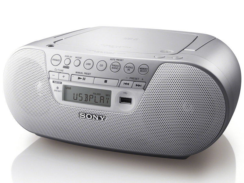 radio cd mp3 avec port usb sony zs ps30cp blanc top achat. Black Bedroom Furniture Sets. Home Design Ideas