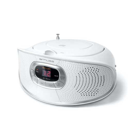 radio lecteur cd muse m 20rdw blanc top achat. Black Bedroom Furniture Sets. Home Design Ideas