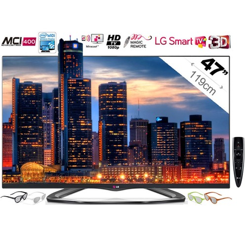 tv led 3d lg 47la660s 119 cm top achat. Black Bedroom Furniture Sets. Home Design Ideas