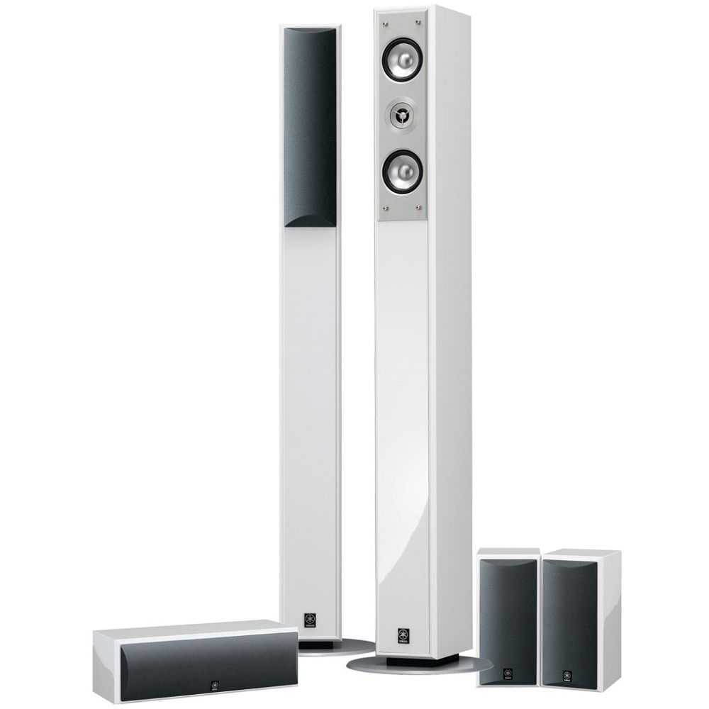 Pack d 39 enceintes home cin ma 5 0 yamaha ns pc210 blanc top achat - Home cinema 2 1 blanc ...