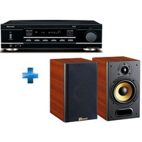 1 Amplificateur Sherwood RX-4109,Noir+2 enceintes Davis Acoustics MUSIC 3, Noyer