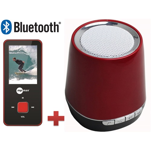 lecteur mp3 mp4 enceinte bluetooth mpman bt18 sp 4 go rouge et noir top achat. Black Bedroom Furniture Sets. Home Design Ideas