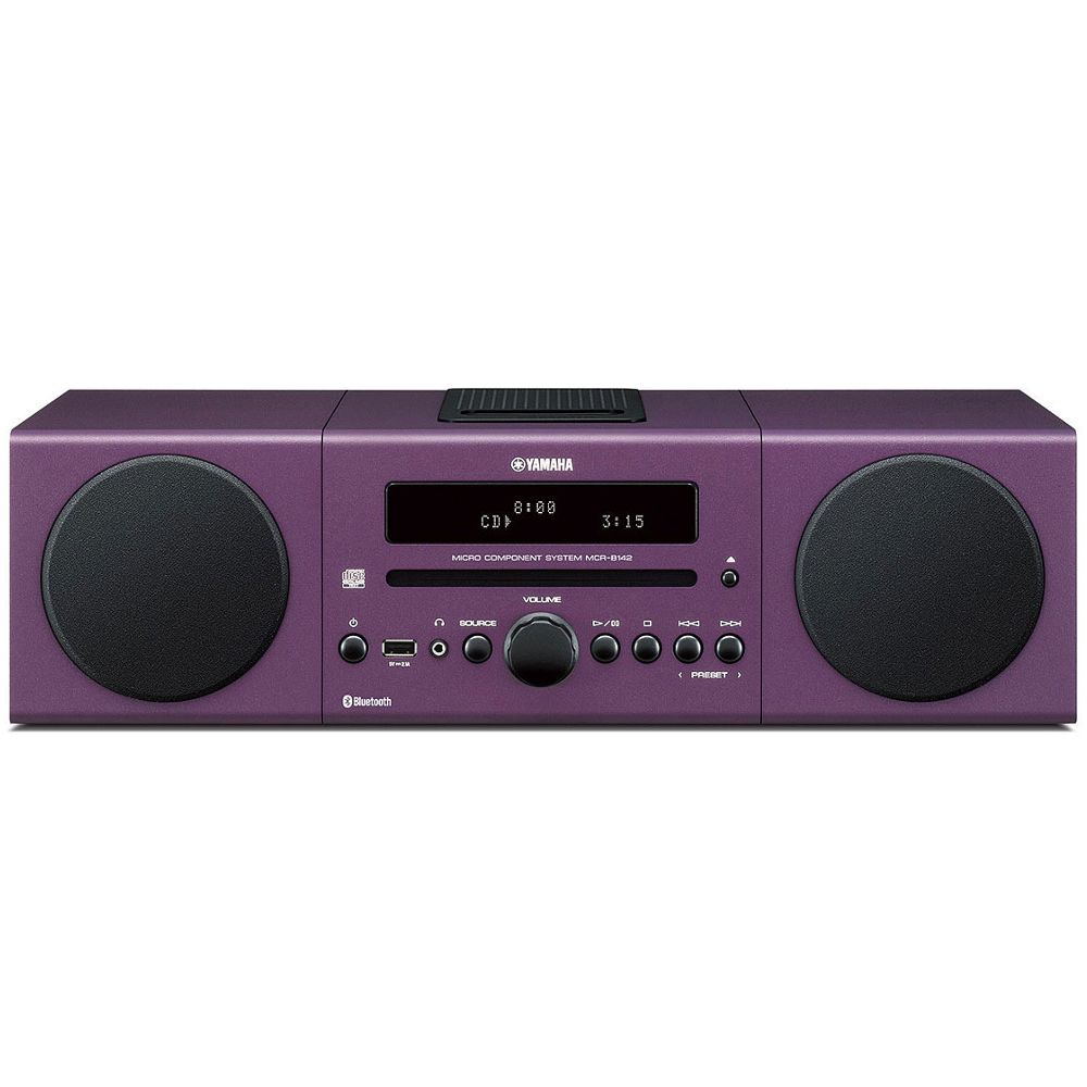 micro chaine hifi yamaha mcr b142 violet top achat. Black Bedroom Furniture Sets. Home Design Ideas