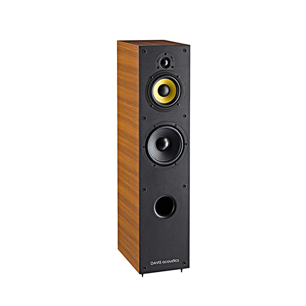 enceinte colonne davis acoustics music 5 noyer top achat. Black Bedroom Furniture Sets. Home Design Ideas