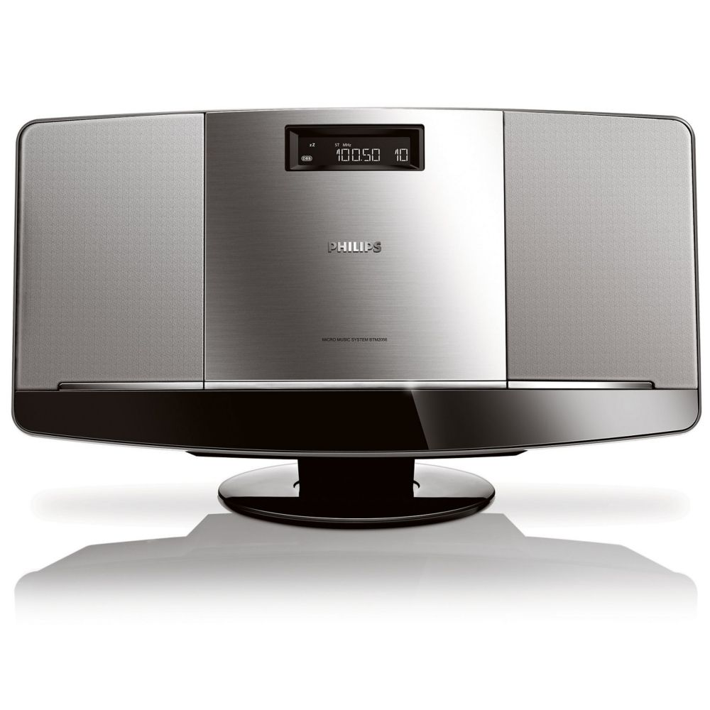 micro cha ne hifi philips btm 2056 gris top achat. Black Bedroom Furniture Sets. Home Design Ideas