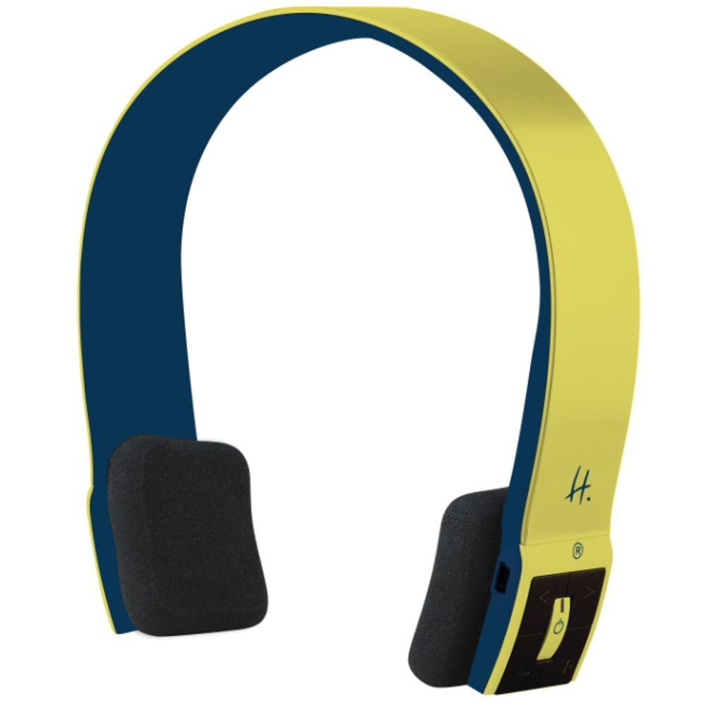 casque nomade sans fil halterrego h ear bleu jaune. Black Bedroom Furniture Sets. Home Design Ideas