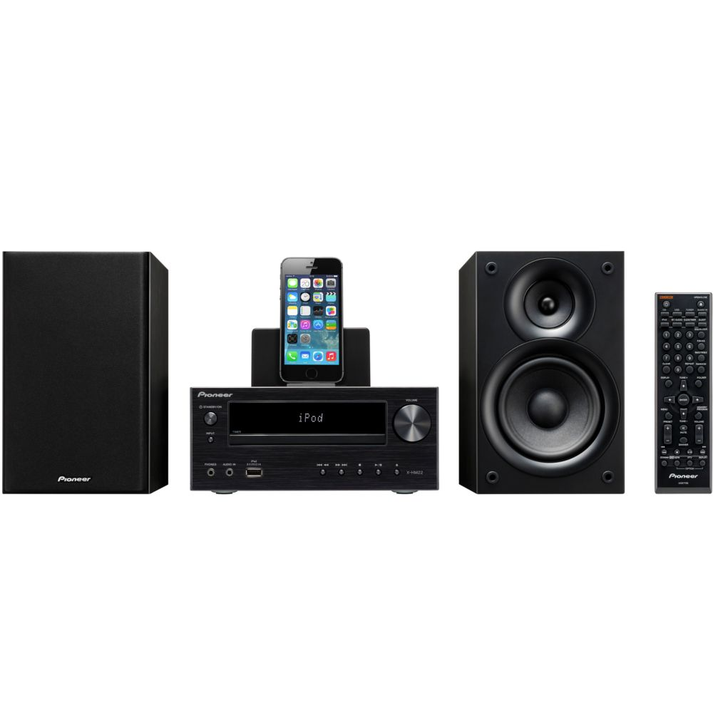 micro cha ne hifi pioneer x hm22 k noir top achat. Black Bedroom Furniture Sets. Home Design Ideas