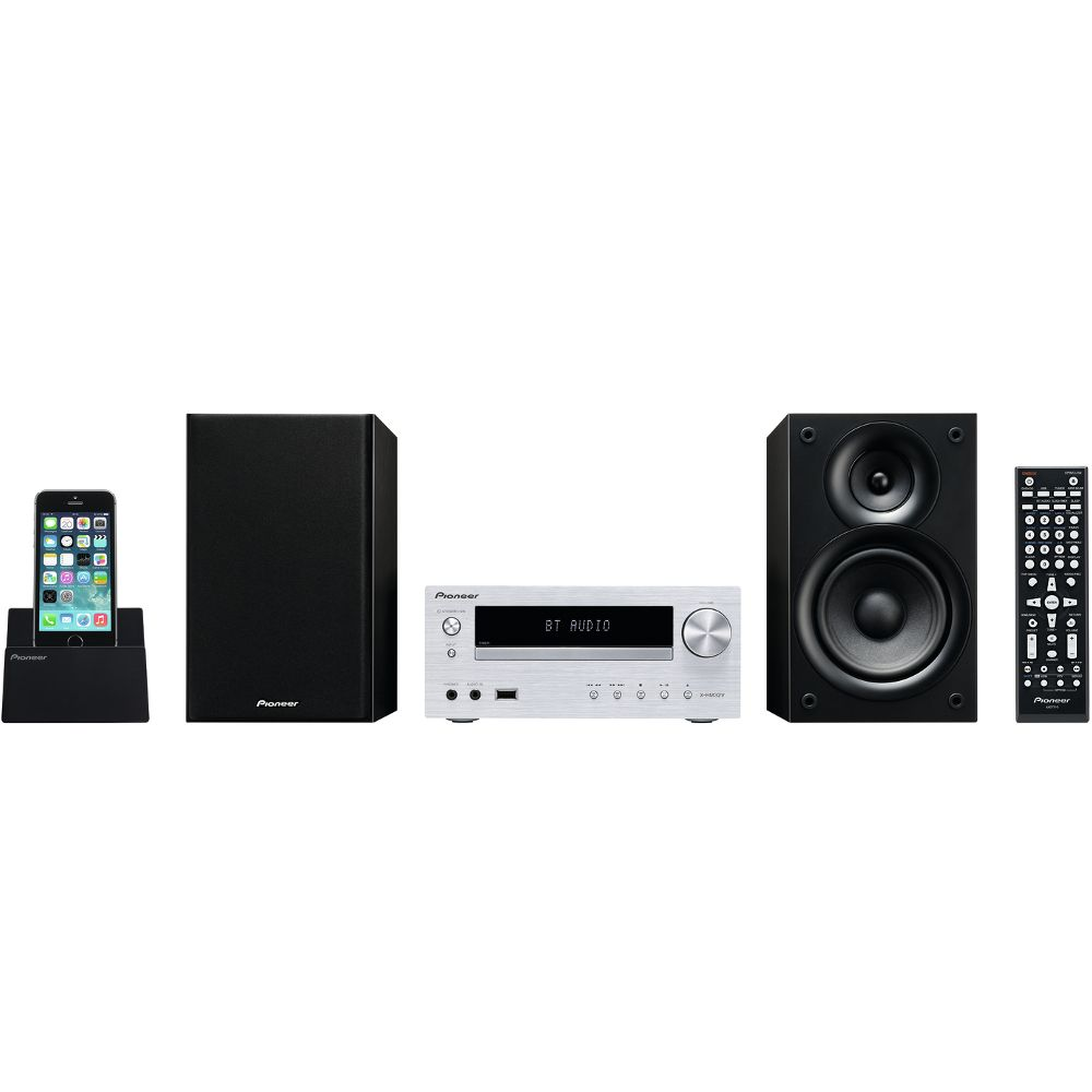 micro cha ne hifi pioneer x hm32v argent achat pas cher avis. Black Bedroom Furniture Sets. Home Design Ideas