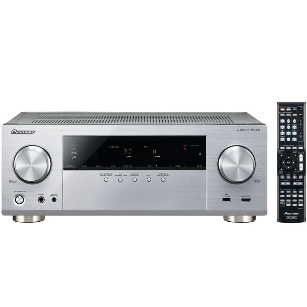 ampli audio vid o pioneer vsx 529 s argent top achat. Black Bedroom Furniture Sets. Home Design Ideas