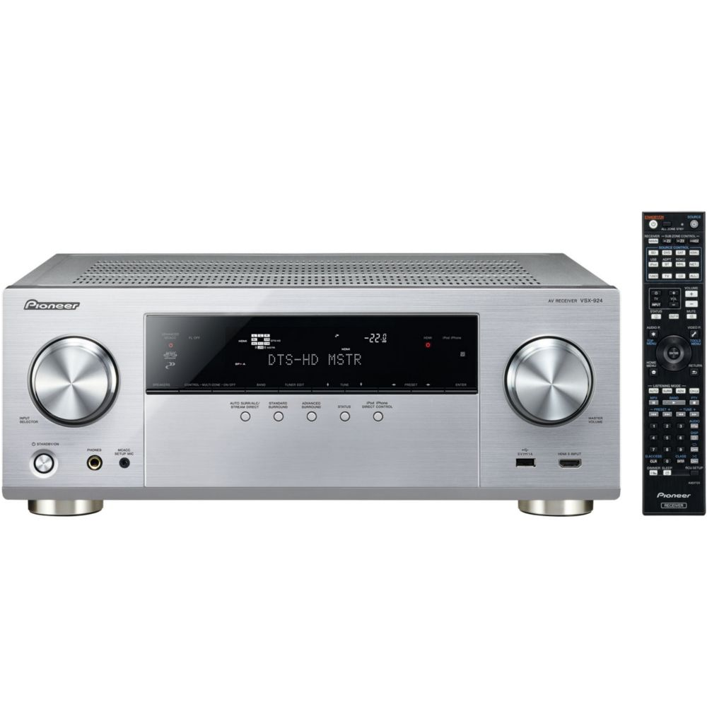 ampli audio vid o pioneer vsx 924 s argent top achat. Black Bedroom Furniture Sets. Home Design Ideas