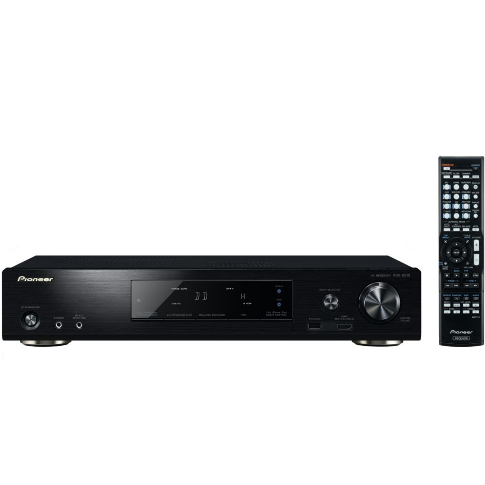 ampli audio vid o pioneer vsx s510 noir top achat. Black Bedroom Furniture Sets. Home Design Ideas