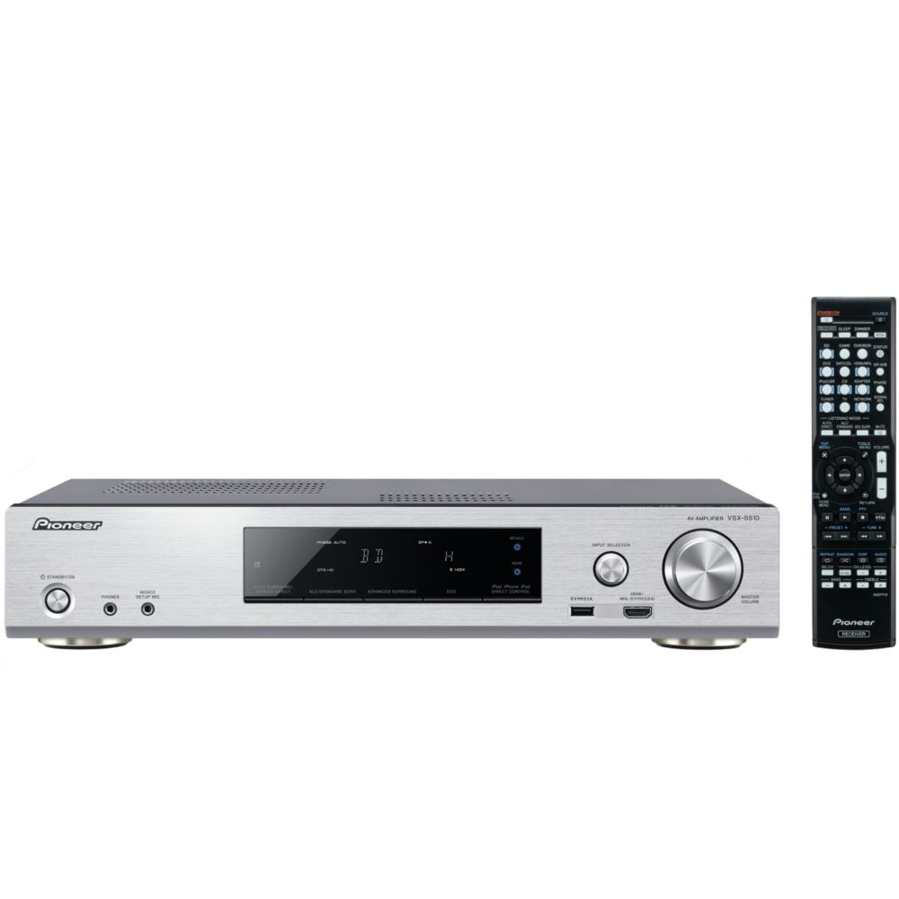 ampli audio vid o pioneer vsx s510 argent top achat. Black Bedroom Furniture Sets. Home Design Ideas