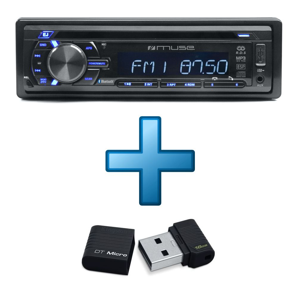 autoradio muse 1228 bt cl usb kingston datatraveler micro 16 go top achat. Black Bedroom Furniture Sets. Home Design Ideas