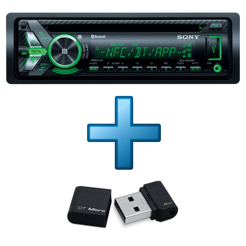 autoradio sony mex n5000bt cl usb kingston datatraveler micro 16 go top achat. Black Bedroom Furniture Sets. Home Design Ideas