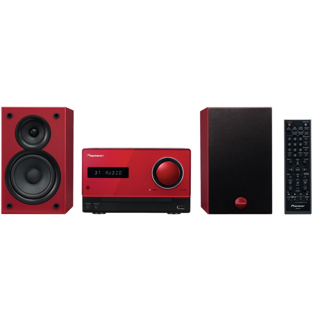 micro cha ne hifi pioneer x cm32bt rouge top achat. Black Bedroom Furniture Sets. Home Design Ideas