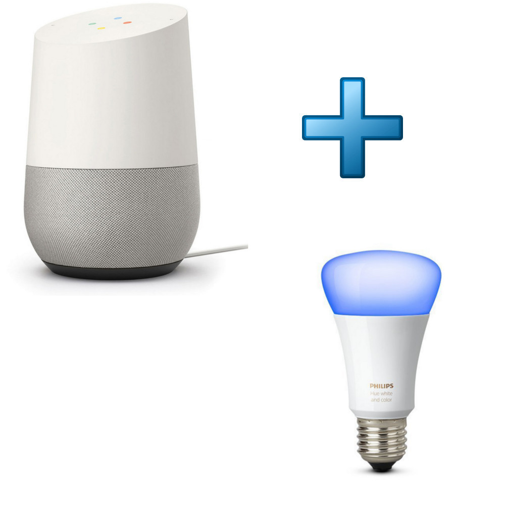 google home philips hue white and color ambiance e27 achat pas cher avis. Black Bedroom Furniture Sets. Home Design Ideas