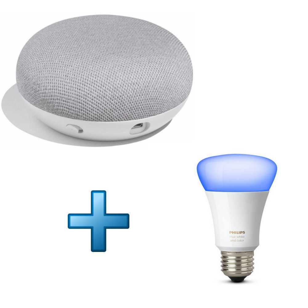 google home mini philips hue white and color ambiance e27 achat pas cher avis. Black Bedroom Furniture Sets. Home Design Ideas