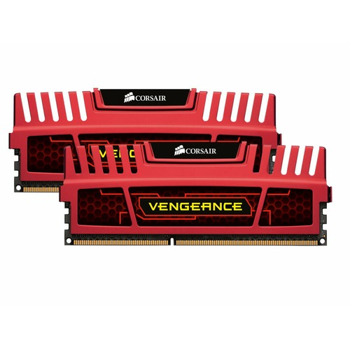 DDR3 Corsair Vengeance Red, 8 Go (2 x 4 Go), 1600 MHz, CAS 9