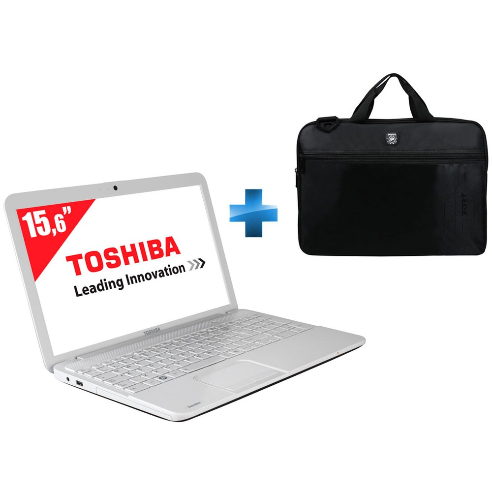 pc portable toshiba satellite c855 1kx blanc 15 6 sacoche top achat. Black Bedroom Furniture Sets. Home Design Ideas