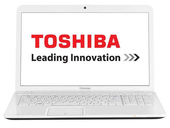 pc portable toshiba satellite c875 12t 17 3 blanc top. Black Bedroom Furniture Sets. Home Design Ideas