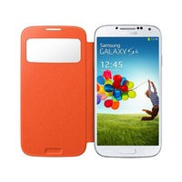 Etui à rabat vertical ''Clear Cover'' pour Galaxy S4, Orange GalaxyS4