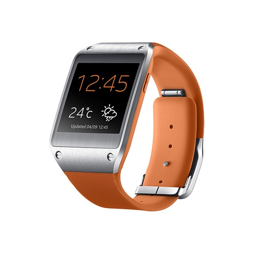 montre connect e samsung galaxy gear sm v7000 orange top achat. Black Bedroom Furniture Sets. Home Design Ideas