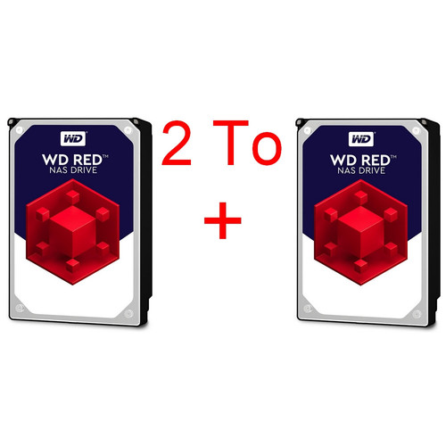 Lot de 2 disques durs Western Digital WD Red, 1 To