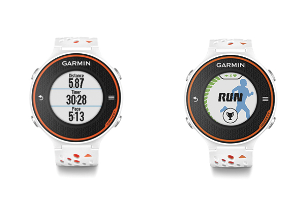 montre gps connect e garmin forerunner 620 blanche et orange top achat. Black Bedroom Furniture Sets. Home Design Ideas