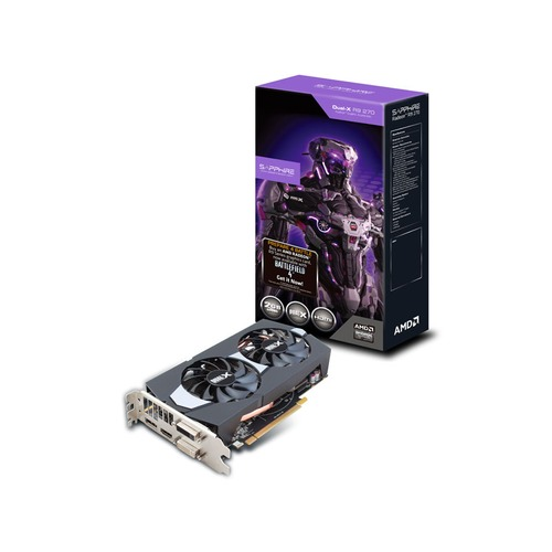 Carte graphique Sapphire Radeon R9 270 Dual-X OC With Boost Battlefield 4, 2 Go
