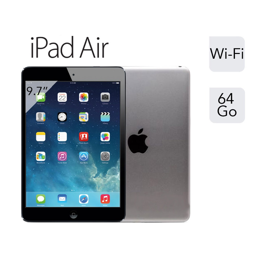 apple ipad air gris sid ral wifi 64 go 9 7 retina top achat. Black Bedroom Furniture Sets. Home Design Ideas