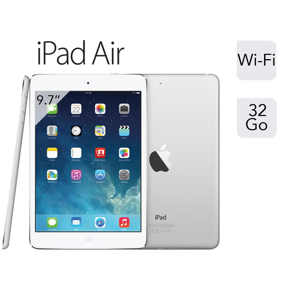 apple ipad air argent wifi 32 go 9 7 retina top achat. Black Bedroom Furniture Sets. Home Design Ideas